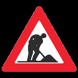 תמרור עבודות בכביש