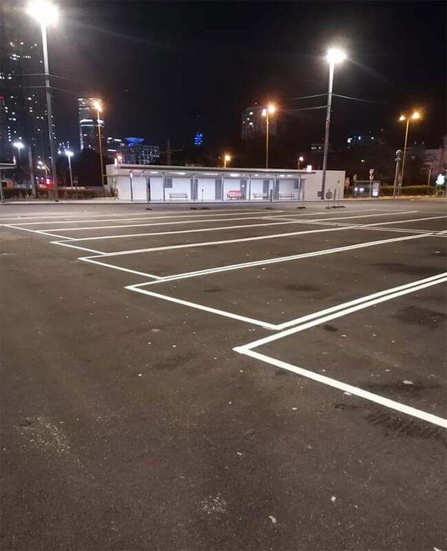 סימון כבישים וחניונים בתל אביב