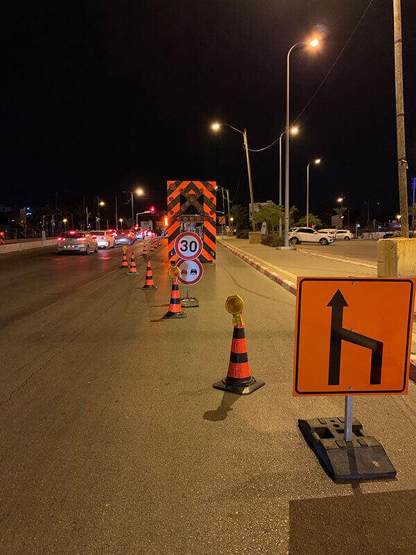 סימון כבישים בעבודות כביש